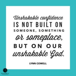 unshakable confidence