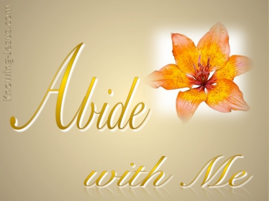 John 15-4 Abide in Me-gold